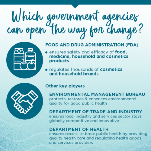 Which government agencies can open the way for change?