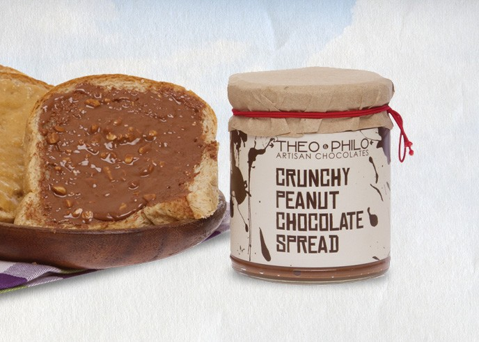 theo & philo crunchy peanut chocolate spread